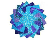 """40 5"""" Quilting Fabric Squares Twilight/Shades of Purple and Blue/3 Gorgeous!!"""