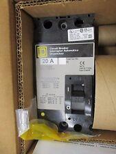 Square D Fal24020, 20 Amp 2 Pole 480 Volt Circuit Breaker, Grey- New