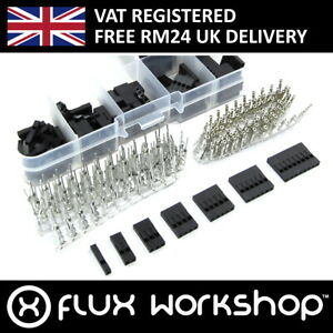 310pcs Pin Connector Housing and Crimps Set 2.54 Male Dupont Wire Flux Workshop