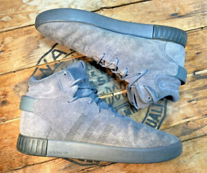adidas tubular instinct boost Mens size 12 Gray Suede Mid Sneakerboot