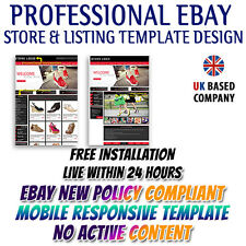eBay Shop Store, eBay Listing Mobile Responsive Template for Lady Shoes &Sandals