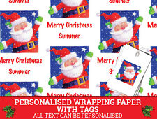 Santa Personalised Christmas Wrapping paper - Xmas Gift Wrap Traditional