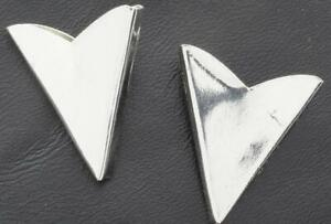 Fabulous Bright Polished 925 Sterling Silver Men's Simple Collar Tips