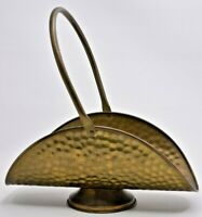"Vintage Hammered Brass Fireplace Log Fire Wood Holder MINI Décor 10""T 9.5""L"
