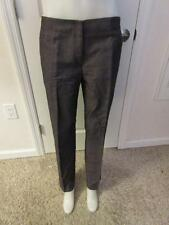 WOMENS RICHARD CHAI GRAY/PURPLE CASUAL PANTS SIZE 10