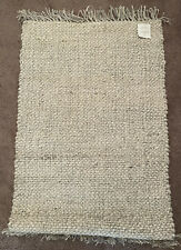2' x 3' Bleached Jute Rug with Fringe Beige - Hearth & Hand with Magnolia
