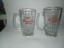 2 Vintage Carlsberg Glasses