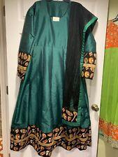 Designer Custom Stitched Silk Cotton Anarkali Gown SALE Size 44