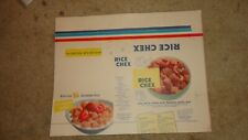 Vintage Rice Chex Ralston Purina Cereal Box Light Cardboard