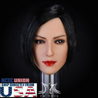 1/6 Resident Evil Ada Wong Head Sculpt SHORT BLACK HAIR For PHICEN Suntan USA