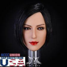 1/6 Resident Evil Ada Wong Head Sculpt SHORT BLACK HAIR For PHICEN Suntan USA