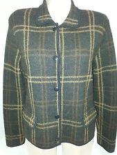 JONES NEW YORK Women Suit Blazer Jacket Coat Sz 10 Small Black Brown Blend Wool