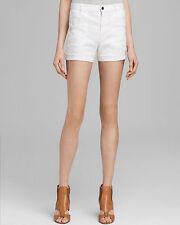 Pinstripe Linen THEORY Brendan W Shorts White Khaki NWT Size 30 New! RV $190