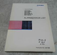 Okuma CNC Systems Alarm & Error List Manual, LE37-005, Used