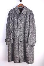VTG Donovan Irish Tweed Raglan Coat 42 Gray Herringbone Weave Wool Overcoat