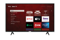 """TCL 50"""" Smart LED ROKU TV 4K Ultra HD Picture Quality with Voice Control Black"""