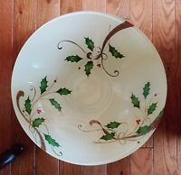 Lenox Holiday Nouveau Large Low Bowl Decoupage, made in Italy NEW
