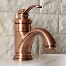 New Red Copper Brass Single Handle Basin Sink Bathroom Mixer Tap Faucet nnf391