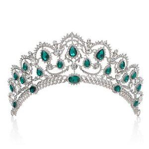 Diadème Mariage Princesse Vert Emeraude