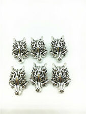 6PCS silver Dragon king head Alloy Beads fit European Silver Bracelet& Necklace