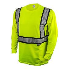 DEWALT DST921 Class 2 Modacrylic Fr Long sleeve T-Shirt, Hi-Viz Green