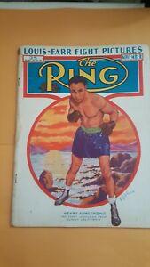 Vintage Ring Boxing Magazine. November 1937. Henry Armstrong.