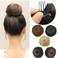 Women DrawString Hair Bun Updo Hair Chignon Scrunchie Hairpieces Hair Extensions