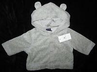 Baby Gap NWT Gray Terry Bear Ears Hoody Sweatshirt Newborn up to 7 lbs. $27
