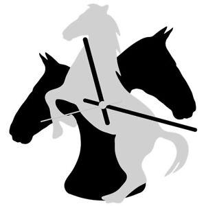 EnjoyYourTime Horse Theme Wall Clock 25cm White/Black  (e9533whtb)