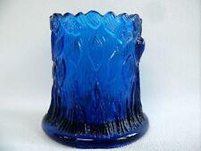 ANTIQUE COBALT BLUE PRESSED GLASS SPECIMEN POSY VASE  DECO