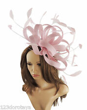 Large Candy Pink Fascinator for Ascot, Weddings, Mother of the Bride P4