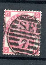 Gb Victorian Fine Used Sg 103 3d Red Plate 5 Position Cg Duplex Mark as scan