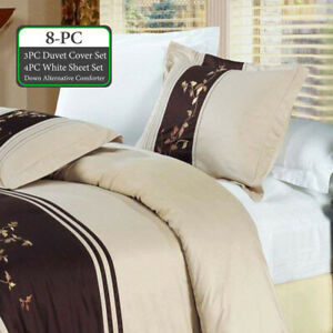 Bundle to Save - 8pc-Celeste Duvet Cover- Sheet Set, Down Alternative Comforter