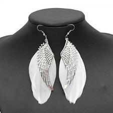 Hook Eardrop Women's Fashion Jewelry Dangle Angel Wings Earrings Feather