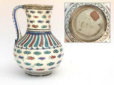 19th C. Islamic Persian Qajar Porcelain Jug Pitcher Middle Eastern Ottoman