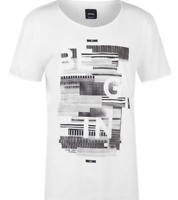 Strellson Mens White T Shirt Tee Large Print UK Size 2XL XXL *REF67