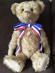 """STEIFF 24"""" TEDDY BEAR BAERLE 43 PAB 1904  #404153 ~ 2004 WITH BOX & COA ELEPHANT"""
