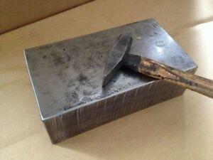 zum VERSENDEN *24kg Richtplatte* AMBOSS, Stahlplatte 265x145x80 mm Schmieden
