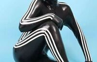 new High-Quality Latex 100% Rubber  Suit Bodysuit Catsuit Size XXS-XXL