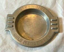New listing Mid Century Advertising Aluminum Ashtray Stegmaier's Beer Wilkes Barre Pa