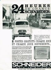 J - Publicité Advertising 1963 Concours Radio Television Schneider Renault 4 R4