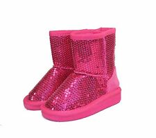 ALING-7KA New Bady Kids Toddlers Slip-On Boot Party Unisex Dree Shoes Fuchsia 7