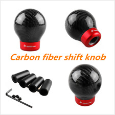 Carbon Fiber Ball Car Manual Gear Shift Knob Cover Handle Stick Shifter Lever