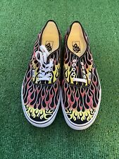 New Vans Authentic Mash Up Flames Black Mens 11
