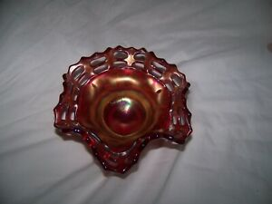 1910 or20's amberina carnival glass real red vintage