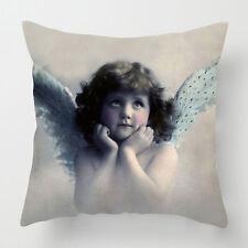 Vintage angel cherub magical cushion