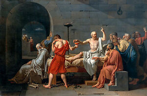 David, The Death of Socrates, 1787, Philosophy Art, Museum Poster, Canvas Print