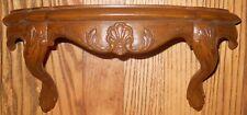 Burwood Products #2625 Antique Brown wood grain Wall Shelf 13'' L