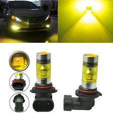 Pair 4300K Yellow H11 H8 Fog Light 2323 LED 100W Driving Projector DRL Bulbs