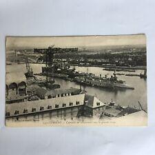 Lorient Cuirasses en Grande Grue Ship Building Carte Postale Unposted Postcard